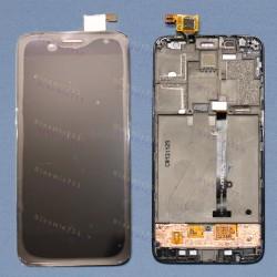 Оригинальный ЛСД экран и Тачскрин сенсор Alcatel one touch idol mini 6012X 6012D Black с рамкой модуль