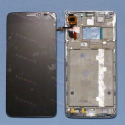 Оригинальный ЛСД экран и Тачскрин сенсор Alcatel one touch idol x 6040D с рамкой модуль