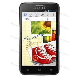 Оригинальный ЛСД экран и Тачскрин сенсор Alcatel scribe easy HD 8000 8000D Black модуль