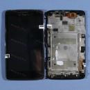 Оригинальный ЛСД экран и Тачскрин сенсор Alcatel scribe easy HD 8000 8000D Black с рамкой модуль