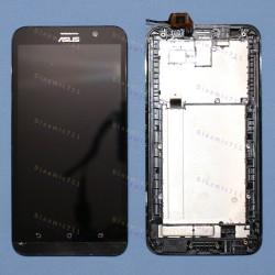 Оригинальный ЛСД экран и Тачскрин сенсор Asus zenfone 2 ZE551ML Black с рамкой модуль