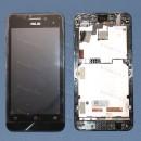Оригинальный ЛСД экран и Тачскрин сенсор Asus zenfone 4 A450CG Black с рамкой модуль