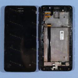 Оригинальный ЛСД экран и Тачскрин сенсор Asus zenfone 5 Lite A502CG Black модуль с рамкой