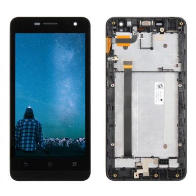 Оригинальный LCD экран и Тачскрин сенсор Asus zenfone 5 Lite A502CG Black модуль с рамкой