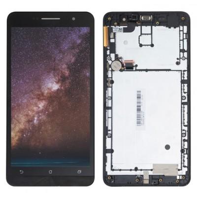 Оригинальный LCD экран и Тачскрин сенсор Asus zenfone 6 A600CG A601CG Black с рамкой модуль
