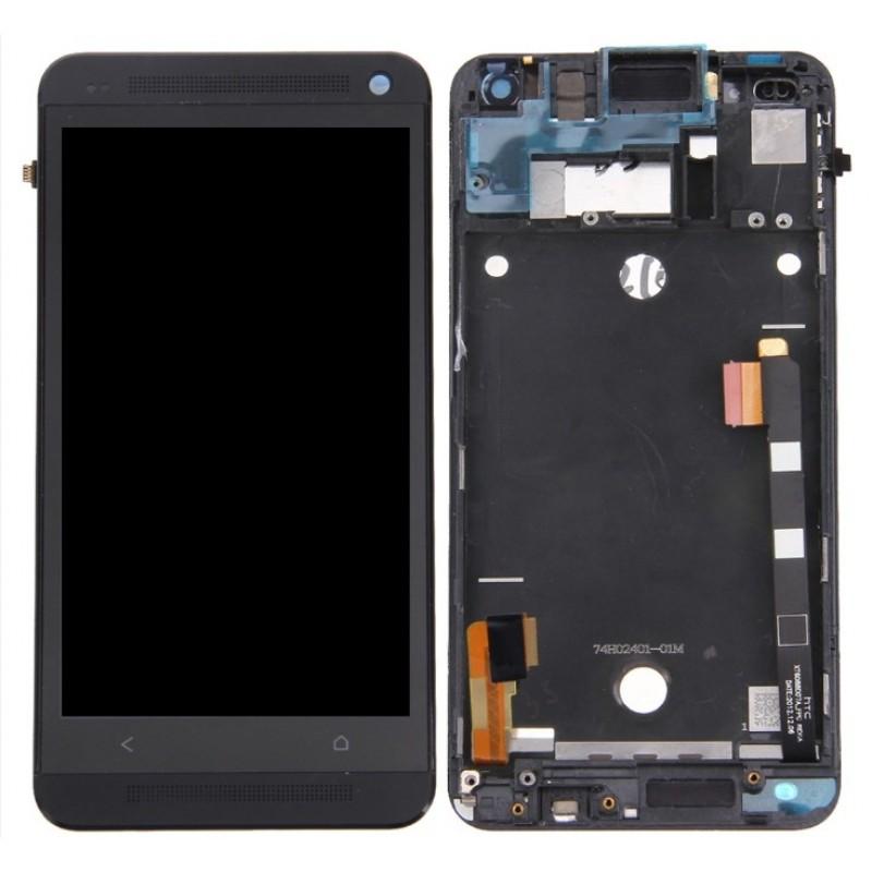 Оригинальный LCD экран и Тачскрин сенсор Htc One M7 (802W) модуль с рамкой