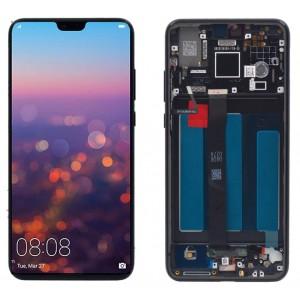Оригинальный LCD экран и Тачскрин сенсор Huawei P20 модуль с рамкой