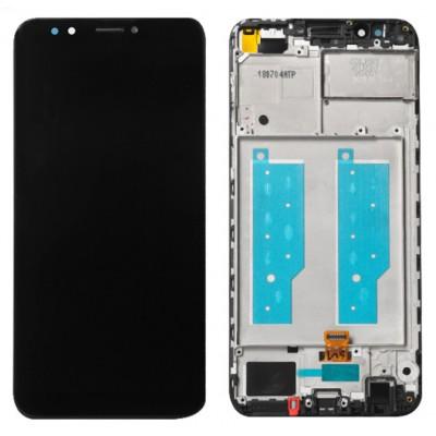 Оригинальный LCD экран и Тачскрин сенсор Huawei Y7 Prime 2018 модуль с рамкой