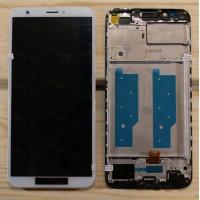 Оригинальный ЛСД экран и Тачскрин сенсор Huawei Y7 Prime 2018 модуль с рамкой