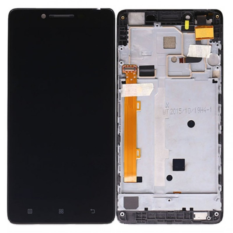 Оригинальный LCD экран и Тачскрин сенсор Lenovo A6000 модуль с рамкой