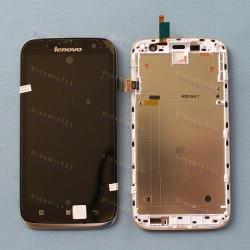 Оригинальный ЛСД экран и Тачскрин сенсор Lenovo A859 Black модуль с рамкой