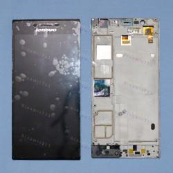 Оригинальный ЛСД экран и Тачскрин сенсор Lenovo K900 Black с рамкой модуль