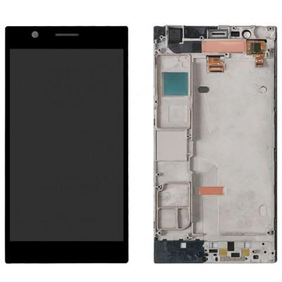 Оригинальный LCD экран и Тачскрин сенсор Lenovo K900 Black с рамкой модуль