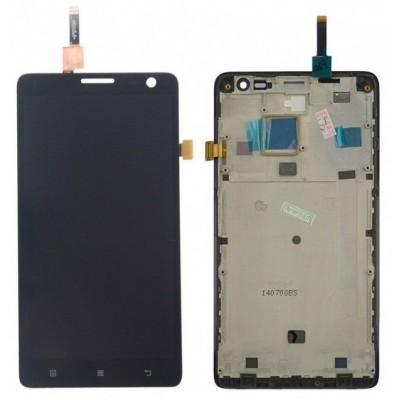 Оригинальный LCD экран и Тачскрин сенсор Lenovo P780 Synaptics Black с рамкой модуль