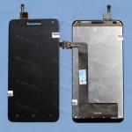 Оригинальный ЛСД экран и Тачскрин сенсор Lenovo S580 Black модуль