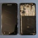 Оригинальный ЛСД экран и Тачскрин сенсор Lenovo S580 Black с рамкой модуль