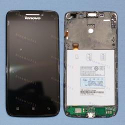 Оригинальный ЛСД экран и Тачскрин сенсор Lenovo S650 Black модуль с рамкой