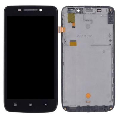 Оригинальный LCD экран и Тачскрин сенсор Lenovo S650 Black модуль с рамкой