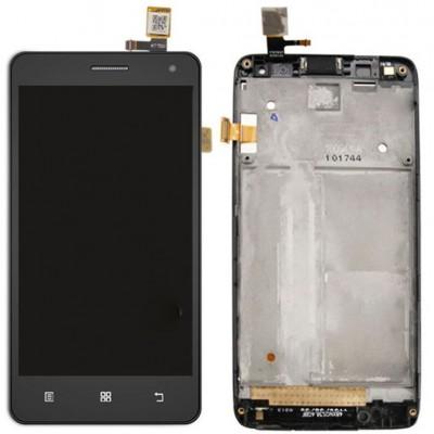 Оригинальный LCD экран и Тачскрин сенсор Lenovo S660 Black с рамкой модуль