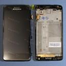Оригинальный ЛСД экран и Тачскрин сенсор Lenovo S660 Black с рамкой модуль