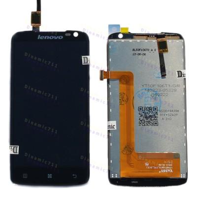 Оригинальный LCD экран и Тачскрин сенсор Lenovo S820 Black модуль (Original)