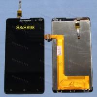 Оригинальный ЛСД экран и Тачскрин сенсор Lenovo S898, S898t+ Black модуль