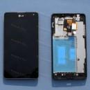 Оригинальный ЛСД экран и Тачскрин сенсор LG Optimus E975 E973 с рамкой модуль