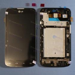 Оригинальный ЛСД экран и Тачскрин сенсор Lg D325 Optimus L70 модуль с рамкой