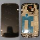 Оригинальный ЛСД экран и Тачскрин сенсор Lg Nexus 4 E960 с рамкой модуль