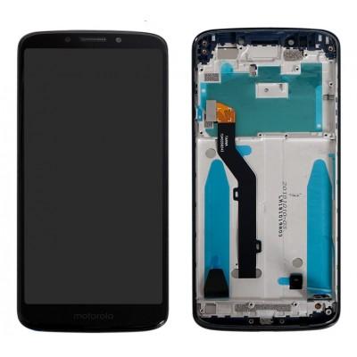 Оригинальный LCD экран и Тачскрин сенсор Motorola Moto G6 Play XT1922 модуль с рамкой