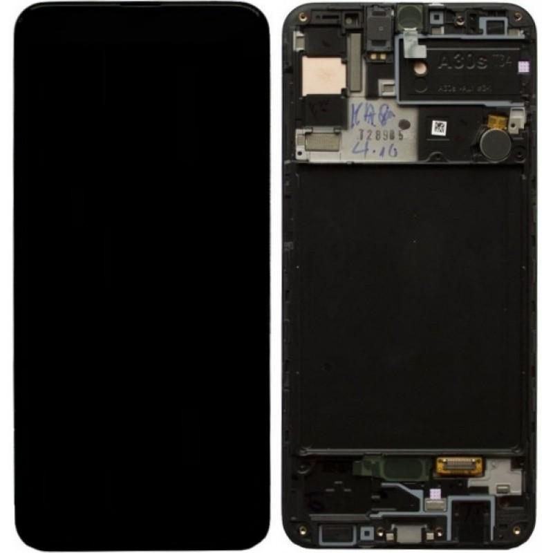 Оригинальный дисплей в рамке Samsung Galaxy A30s A307 A307F Black GH82-21190A