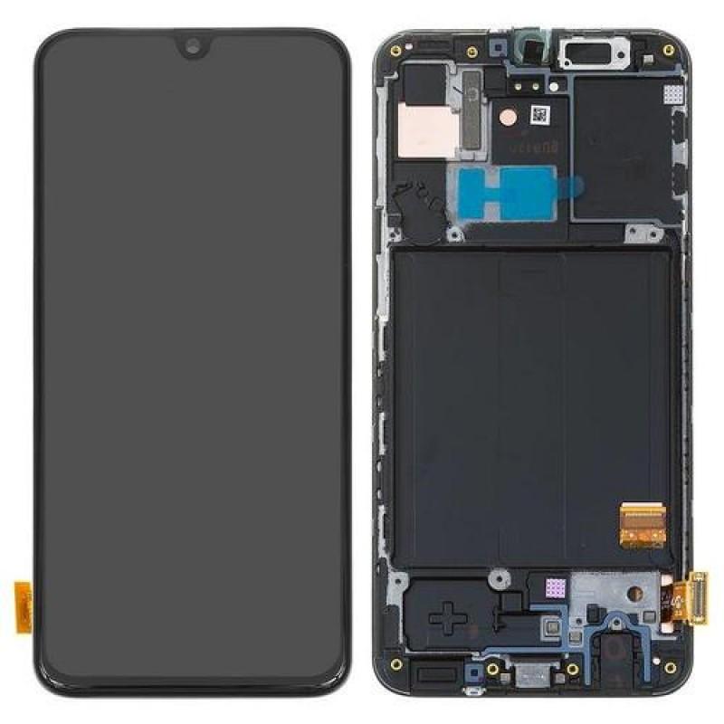 Оригинальный дисплей в рамке Samsung Galaxy A40 A405 Black GH82-19672A
