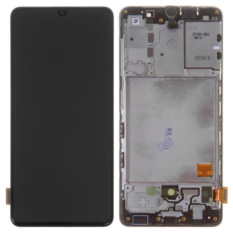 Оригинальный дисплей в рамке Samsung Galaxy A41 A415 Black GH82-22860A