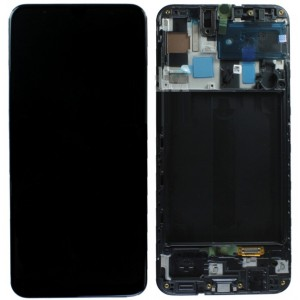 Оригинальный дисплей в рамке Samsung Galaxy A50 A505 Black GH82-19204A