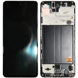 Оригинальный дисплей в рамке Samsung Galaxy A51 A515 Black GH82-21669A