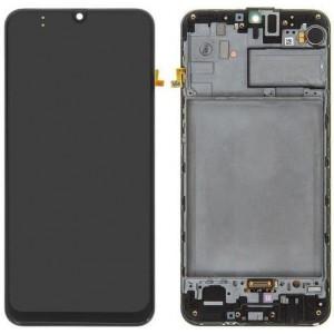 Оригинальный дисплей в рамке Samsung Galaxy M21 M215 Black GH82-22509A
