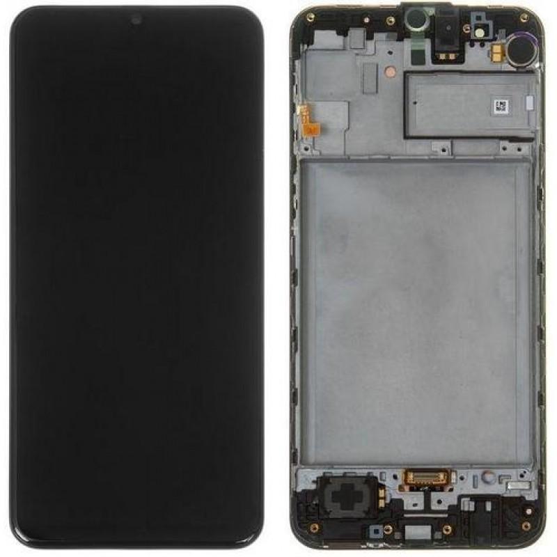 Оригинальный дисплей в рамке Samsung Galaxy M31 M315 Black GH82-22405A