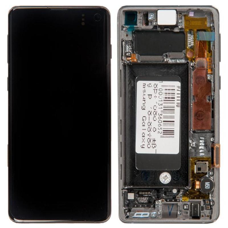 Оригинальный дисплей в рамке Samsung Galaxy S10 G973F Black GH82-18835A