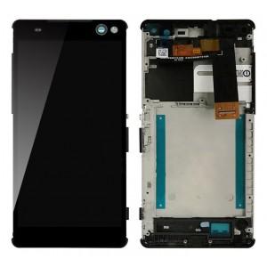 Оригинальный LCD экран и Тачскрин сенсор Sony Xperia C5 Ultra модуль с рамкой