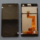 Оригинальный ЛСД экран и Тачскрин сенсор Sony Xperia T3, D5102, D5103, D5106 модуль с рамкой