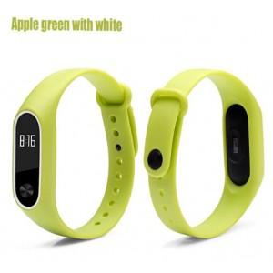 Ремешок Mi Fit для фитнес браслета - Xiaomi Mi band 2 (Apple green white)