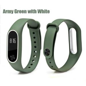 Ремешок Mi Fit для фитнес браслета - Xiaomi Mi band 2 (Army green white)
