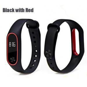 Ремешок Mi Fit для фитнес браслета - Xiaomi Mi band 2 (Black with red)