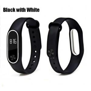 Ремешок Mi Fit для фитнес браслета - Xiaomi Mi band 2 (Black with white)