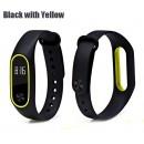 Ремешок Mi Fit для фитнес браслета - Xiaomi Mi band 2 (Black with yellow)