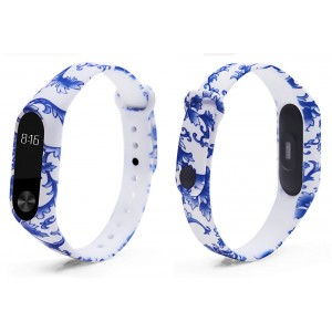 Ремешок Mi Fit для фитнес браслета - Xiaomi Mi band 2 (Blue and white porce)