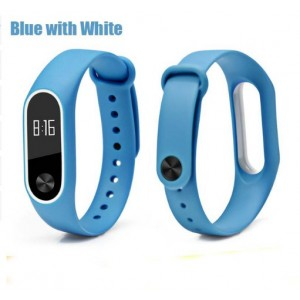 Ремешок Mi Fit для фитнес браслета - Xiaomi Mi band 2 (Blue with white)