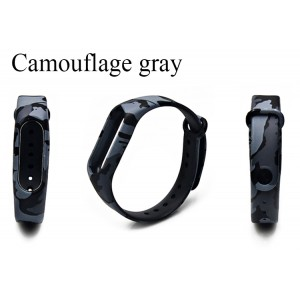 Ремешок Mi Fit для фитнес браслета - Xiaomi Mi band 2 (Camouflage gray)