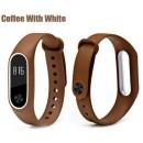 Ремешок Mi Fit для фитнес браслета - Xiaomi Mi band 2 (Coffee with white)
