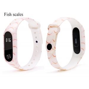 Ремешок Mi Fit для фитнес браслета - Xiaomi Mi band 2 (Fish Scales)